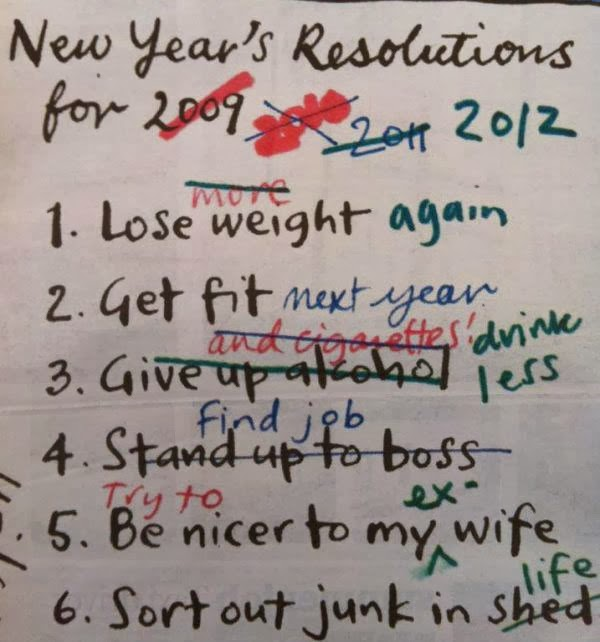 Where did my New Year resolutions go?